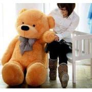 Golden Brown 3.5 Feet Bow Teddy Bear