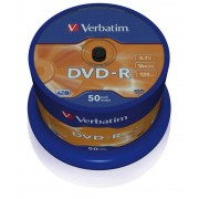 Verbatim DVD-R 16X Pk50 43548