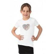 Trigema Mädchen T-Shirt Deutschland Herz Größe: 152 Material: 95 % Baumwolle, Ringgarn supergekämmt, 5 % Elastan Farbe: weiss