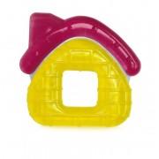 Baby Care Hűthető rágóka - Házas Sárga, piros tetővel