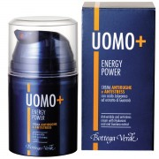 UOMO + Energy Power - Crema antirid si anti-stres, cu acid hialuronic si extract de guarana