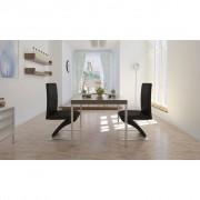 vidaXL Sada 2 černých jídelních židlí v cikcak tvaru