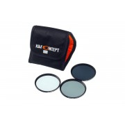 Kent Faith ND Kit 52mm - Kit filtre ND2+ND4+ND8 cu husa de transport