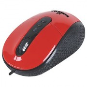 Manhattan USB 1.1 RightTrack Mouse - Red (177702)