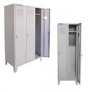 Garderobenschrank mit 3 abschließbare Abteile, Maße 185 x 50 x 90 cm