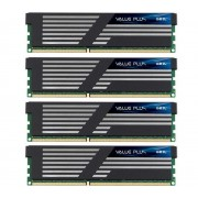 Mémoire PC Value Plus 4 x 4 Go DDR3-1333 PC3-10660 CL9 (GVP316GB1333C9QC)