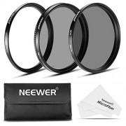 Neewer 58mm Kit di Filtri per Obiettivo: Filtro UV + Filtro CPL + Filtro ND4 + Custodia per Filtri + Stoffa di Pulizia per Fotocamere CANON Rebel, EOS (70D,700D,650D,600D, 550D,500D,1100D,100D) e Obiettivo Zoom 18-55mm EF-S IS STM