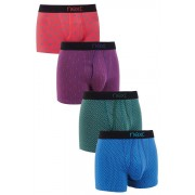 Mens Next Bright Geometric A-Fronts Four Pack - Multi