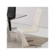 Distribain CITY Lot de 4 chaises blanches
