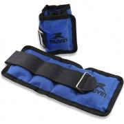 Caneleira de Peso Fitness Muvin Azul 2,5 Kg (Par) - Tamanho Único