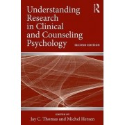 Understanding Research in Clinical and Counseling Psychology by Jay C. Thomas