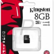 Kingston - SDC10G2/8GBSP - 8 GB - microSDHC - Clasa memorie 10 - 45 MB/s - W/O Adapter
