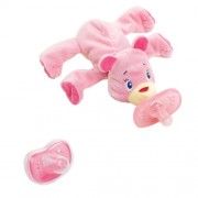 Bright Starts 40012 - Acogedora plush para chupon Cozy Coos Deluxe, color rosa