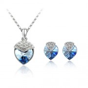 Set bijuterii Sapphire Blue Tear