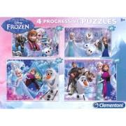 Clementoni - puzzle progressivo 20 + 60 + 100 + 180 - frozen
