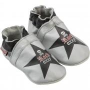 Botosei gri din piele pentru bebelusi, Rock Oxxy Star