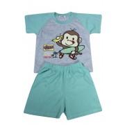 Monkey chlapecké pyžamko světle zelená 3-4 roky