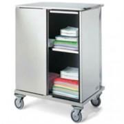container porta biancheria pulita - con chiusura a chiave e paraurti -