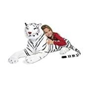 Melissa & Doug Giant Siberian White Tiger - Lifelike Stuffed Animal (over 1.5 meters long)