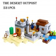 Model building kits compatible with lego 21121 18019 my world MineCraft The desert outpost Educational toys hobbies for children