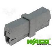 Wago Borne de connexion WAGO 224-201, gris, 2 pôles, bornier de labo