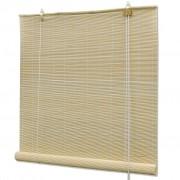 vidaXL Естествена бамбукова руло щора 80 х 160 см