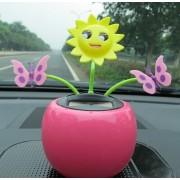 Solar Powered Dancing,Car Desk Accessory,car solar flower Butterfly Assorted Colors 1 piece
