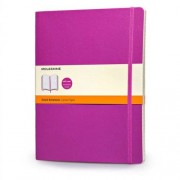 Moleskine Classic Colored Notebook, Extra Large, Ruled, Orchid Purple