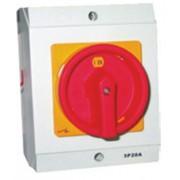 Tűzvédelmi KI-BE főkapcsoló sárga előlappal 3x100A tokozott IP65 (6002)