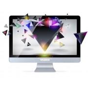 Yashi Monitor Crystal ips led 24 wide 2ms multimediale 0.265 full hd Argento vga hdmi