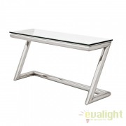 Consola LUX design modern din otel inoxidabil Table Z stainless steel/ transparent 108463 HZ