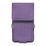 Jo Jo A6 G8 Series Leather Pouch Holster Case For Karbonn K451 Plus Sound Wave Purple