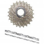 Shimano Ultegra CS-6700 Bicycle Chain and Cassette - 10 Speed Grey 12-23T