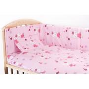 Lenjerie 4 piese kitty roz,120 x 60 cm