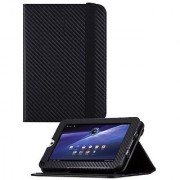 HHI Re-Elegant Muti-Function Viewing Stand Case For Toshiba Thrive 7 - Carbon Fiber (Package include a HandHelditems Ske