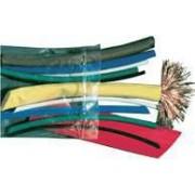 Zsugorcső készlet, vékonyfalú, 2:1 zsugorodás, több szín - 15x150mm, POLIOLEFIN ZSB-SET - Tracon