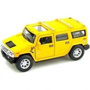 Kinsmart 2008 Hummer H2 Suv (Yellow)