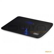 Stand notebook DeepCool 15.6' - 1* fan 140mm, blue LED, 1* USB, plastic & metal, black 'WINDPAL MIN