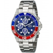 Invicta Watches Invicta Men's 1771 Pro Diver Collection Stainless Steel Chronograph Watch BlueSilver