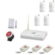 IP-AP014 - безжична GSM аларма за дома с 4 датчикa за движение, 1 МУК за врата и 3 дистанционни