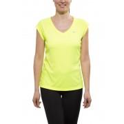 Nike Miler Maglietta da corsa Donne SS, V-Neck verde M Magliette da corsa