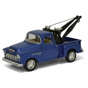 Set of 4: 1955 Chevy 3100 Stepside Tow Truck Pick-Up 1:32 Scale (Red, Badge, Blue, Orange)