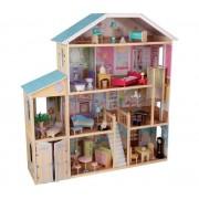 Maison de poupées bourgeoise majestueuse