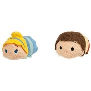 Disney - Cinderella ''Tsum Tsum'' Mini Plush Collection - Cinderella and Prince Set of 2 - NEW by Cinderella