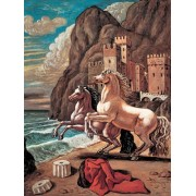 Two Horses On A Beach Painted By Giorgio De Chirico, 1000 Piece Jigsaw Puzzle Made By Ravensburger