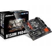 PŁYTA ASROCK B150M PRO4V /B150/DDR4/SATA3/M.2/USB3.0/PCIE3.0/S.1151/MATX