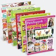 Pack 6 revistas Patchwork Applique
