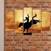 Декоративен панел за стена с оригинален родео мотив Vivid Home