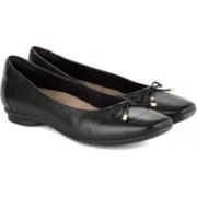 Clarks Candra Light Black Leather Slip on(Black)