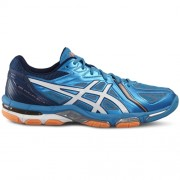 asics Herren-Volleyballschuh GEL-VOLLEY ELITE 3 - blue jewel/white/hot
